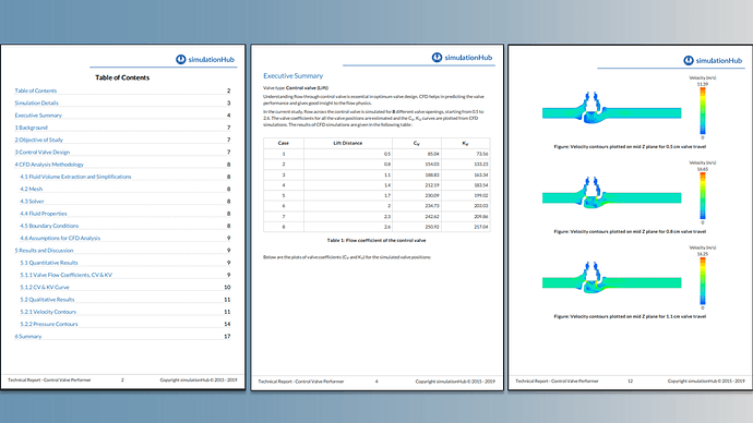 Valve performance report generated using AVC