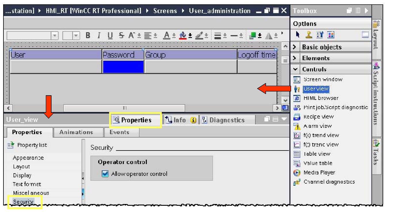 User Administration Siemens WinCC SCADA - Siemens - Instrumentation
