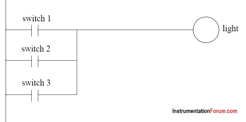 Three Switches Relay Logic