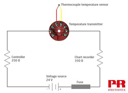 4-20 current loop with temperature sensor